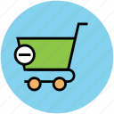 cancel from cart, delete order, remove from cart, shopping, shopping cart icon