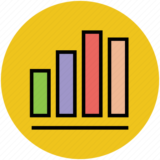 analytic, bar graph, business chart, chart, financial graph, graph icon