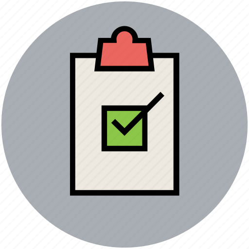 accepted, approved, checklist, checkmark, clipboard, successfully, tick sign icon