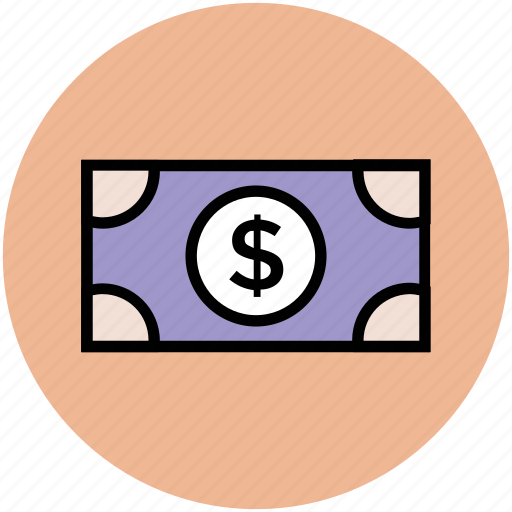 banknote, currency, dollar, money, paper money, usd icon