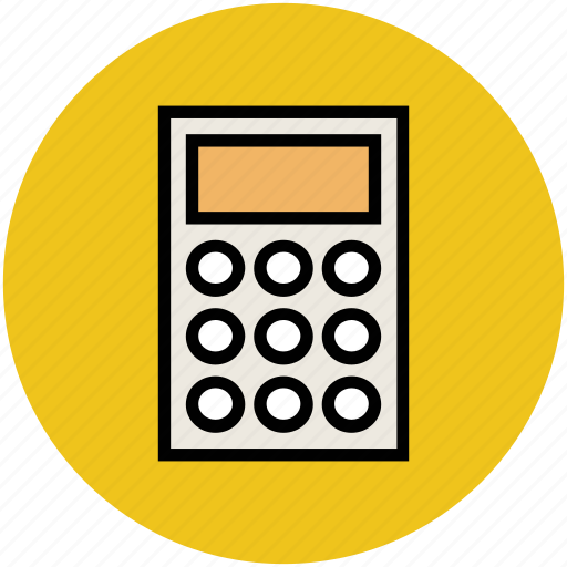 accounting, calculation, calculator, digital calculator, math icon