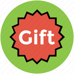 gift, gift label, gift sticker, gift tag, label, sticker icon
