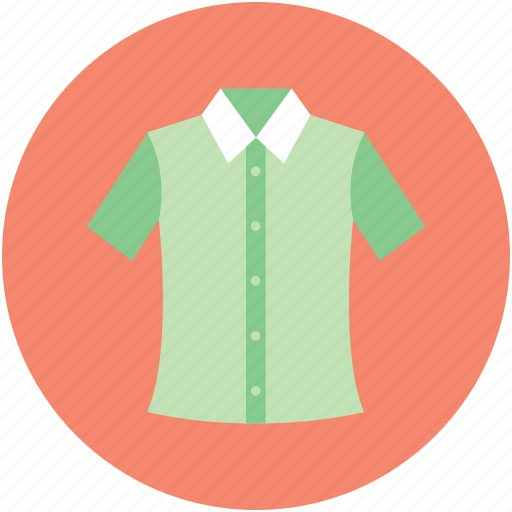 casual wear, collar shirt, garment, half sleeves, shirt icon