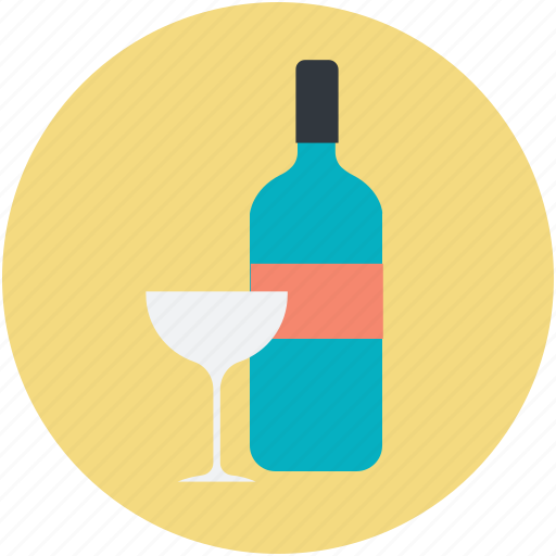 alcohol, alcoholic drink, bottle, drink, glass icon
