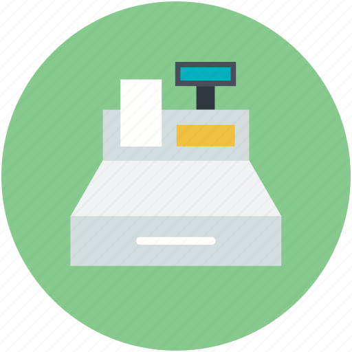 cash machine, cash register, cash till, checkout, sale point icon