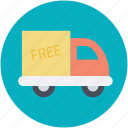 delivery service, delivery van, free delivery, freight, transportation icon
