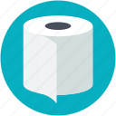 bathroom tissue, toilet paper, toilet roll, toilet tissue, tp icon
