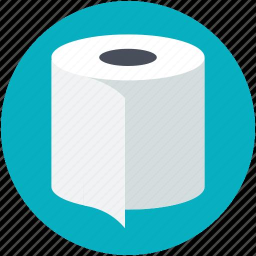 bathroom tissue, toilet paper, toilet roll, toilet tissue, tp icon