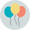 balloons, celebrations, decoration, fun, party icon