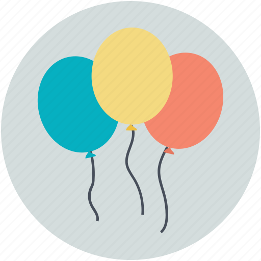 balloons, celebrations, decoration, fun, party icon