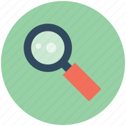 magnifier, magnifying glass, search, search web, searching glass icon