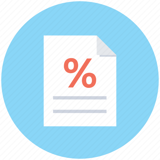 discount offer, document, percentage, promotion flyer, shopping offer icon