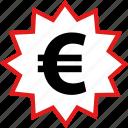 euro, price, sale, tag icon