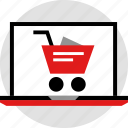 ecommerce, laptop, online, shop, shopping icon