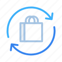 ecommerce, product, refund, reorder, return, shopping icon