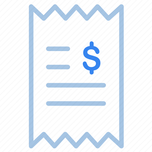bill, ecommerce, fees, invoice, receipt, shopping icon