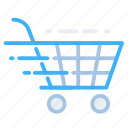 cart, commerce, delivery, shopping, fast, quick, shipping