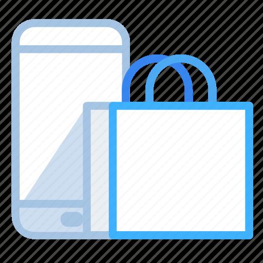 business, commerce, e-commerce, mobile, online, shopping icon