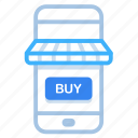 commerce, mobile, online, shop, shopping, store icon