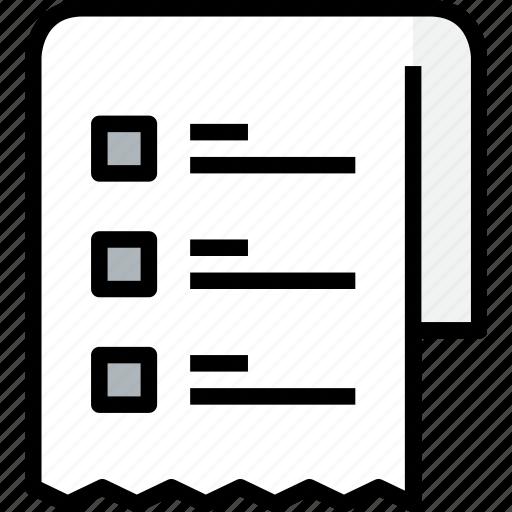 commerce, list, market, sale, shop, shopping icon