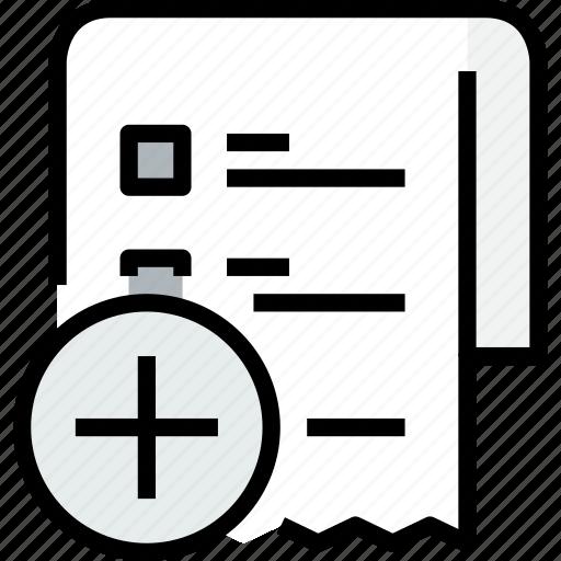 add, commerce, list, market, sale, shop, shopping icon
