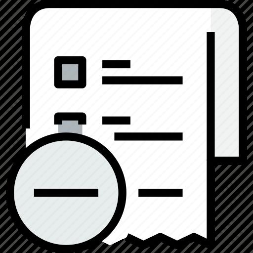 commerce, list, market, remove, sale, shop, shopping icon