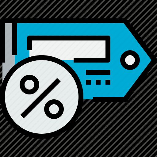 commerce, market, percent, price, sale, shop, tag icon