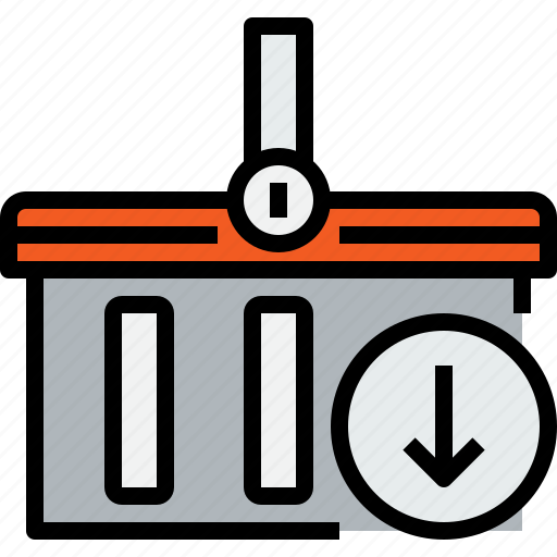 arrow, basket, commerce, market, sale, shop, shopping icon