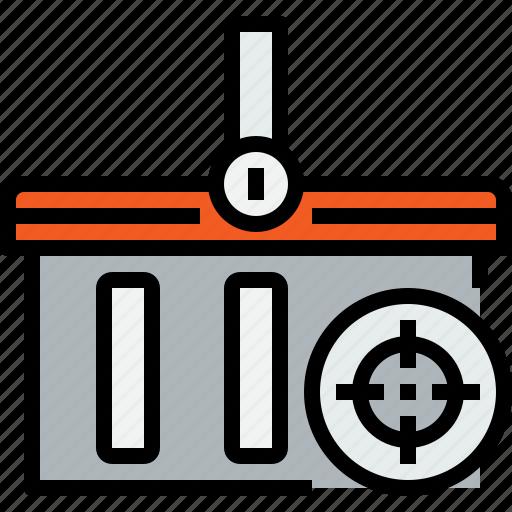 basket, commerce, market, sale, shop, shopping, target icon
