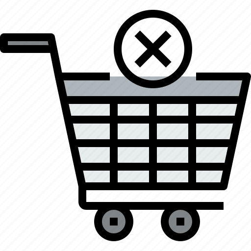 cart, commerce, market, sale, shop, shopping, x icon
