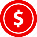 christmas, dollar, money, sign icon