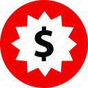 dollar, money, price, sign, tag icon