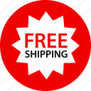 free, now, shipping, special icon