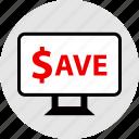 big, event, sale, save icon