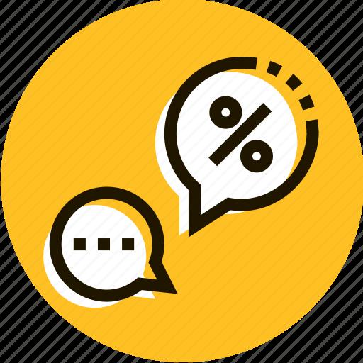 bubble, chat, communication, e-commerce, message, shopping, talk icon