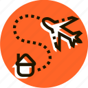 delivery, e-commerce, fast, home, logistics, plane, transport icon