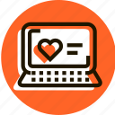 bookmark, e-commerce, favorite, heart, love, notebook, shopping icon