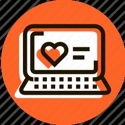 bookmark, e-commerce, favorite, heart, love, notebook, shopping icon