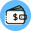 cash, commerce, money, purse, shopping, wallet icon
