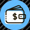 cash, commerce, money, purse, shopping, wallet