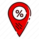 buy, discount, location, shop, shopping icon