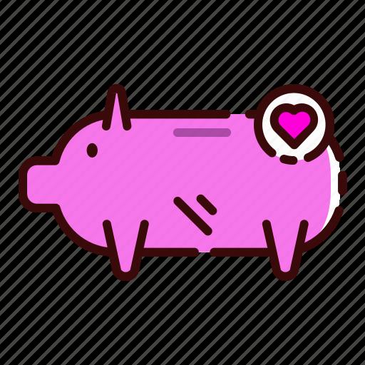 bank, cheap, money, pig, save icon