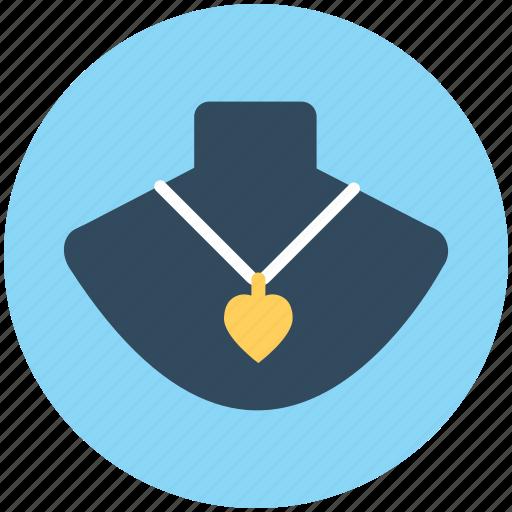jewellery, necklace, necklace display, neckwear, pendant icon