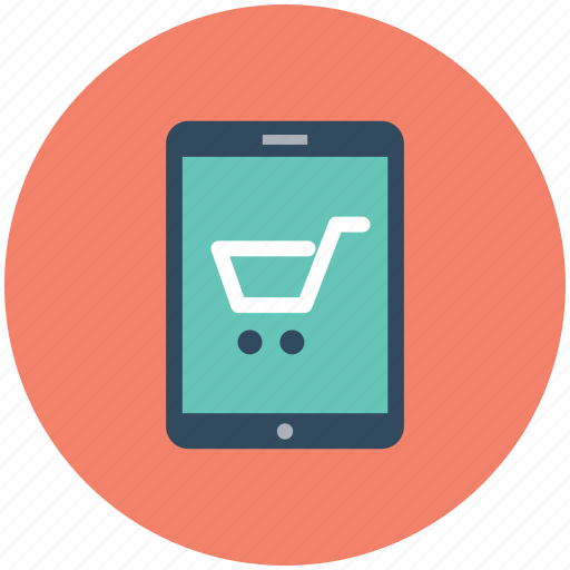 e commerce, m commerce, online shopping, shopping app, shopping cart icon