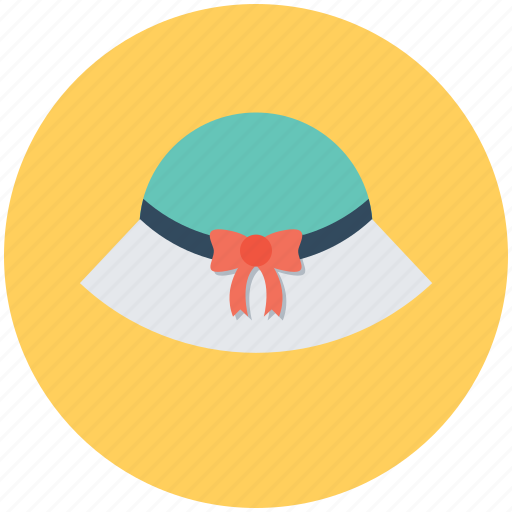 beach hat, fedora hat, floppy hat, headwear, woman hat icon