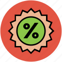 discount, discount offer, new offer, online shopping, percent, percentage icon