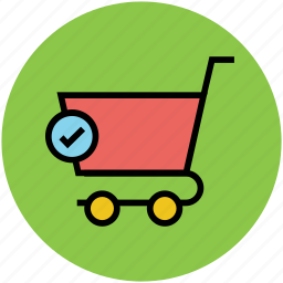 cart, check, complete products, complete shopping, shopping, shopping cart icon