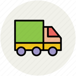 cargo, consignment truck, delivery, delivery van, shipping truck, transport icon