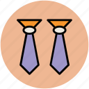 clothes, dress, fastening ties, formal tie, tie, uniform tie, windsor tie knot icon