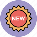 fresh, new, new item, offer, sale, tag, unopened icon